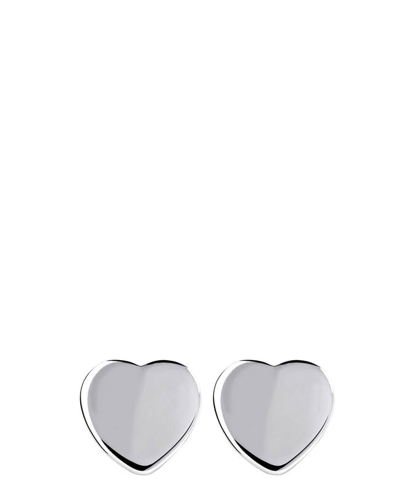 'Dorita' Sterling Silver Heart Earrings