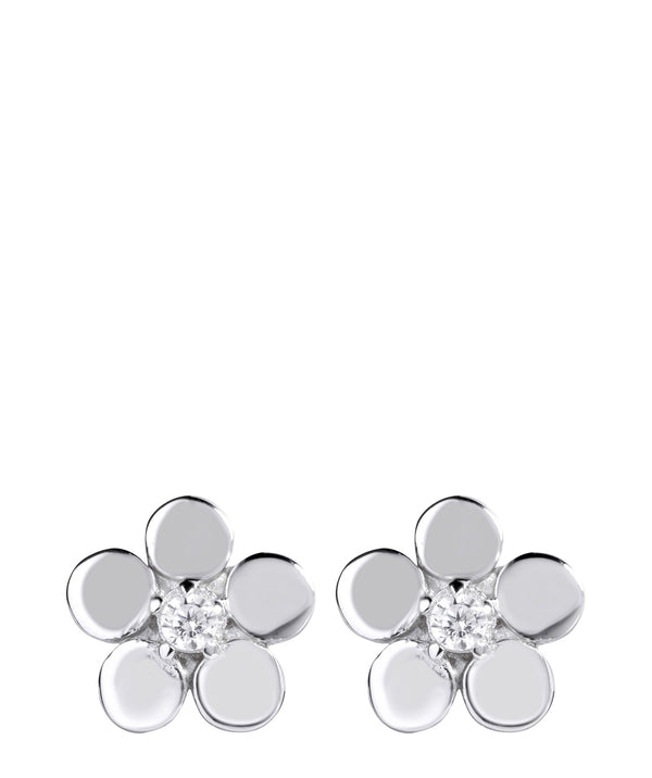 Gift Packaged 'Jacinta' Sterling Silver Flower Earrings