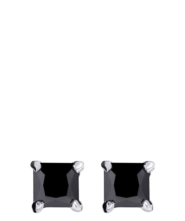 'Ibbie' Sterling Silver & Black Cubic Zirconia Earrings