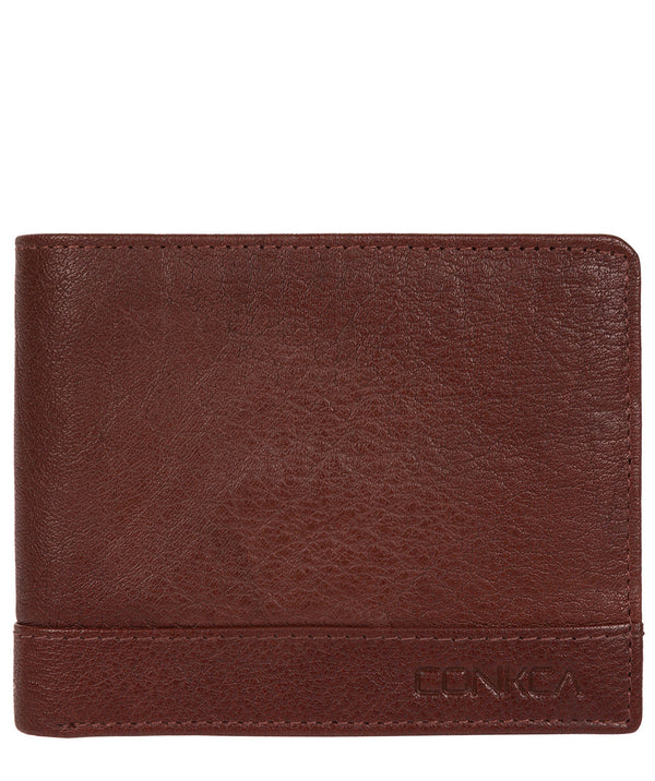 'Carter' Conker Brown Leather RFID Wallet image 1