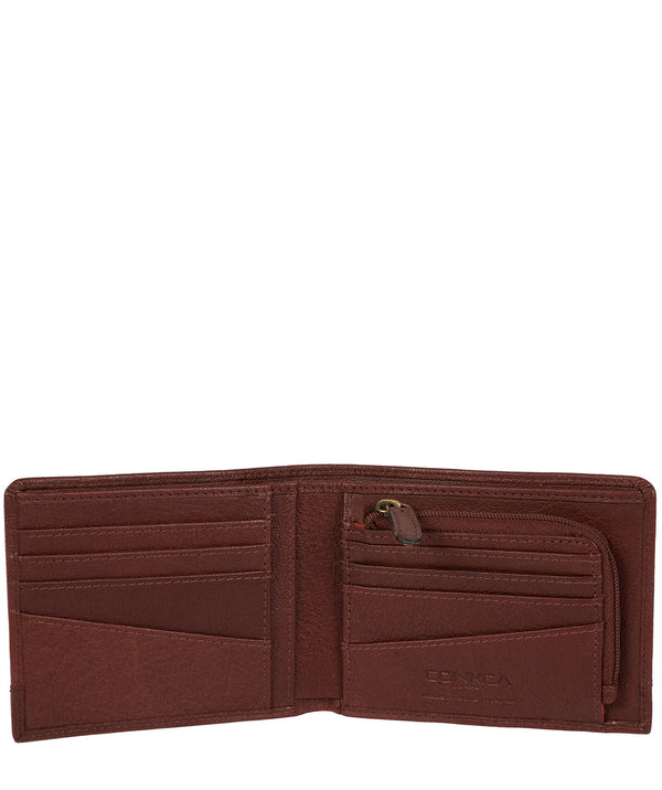 'Carter' Conker Brown Leather RFID Wallet image 3