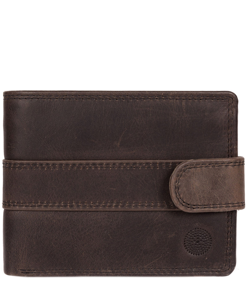 'Jude' Antique Black Handcrafted Leather Wallet image 1