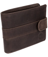 'Jude' Antique Black Handcrafted Leather Wallet image 3