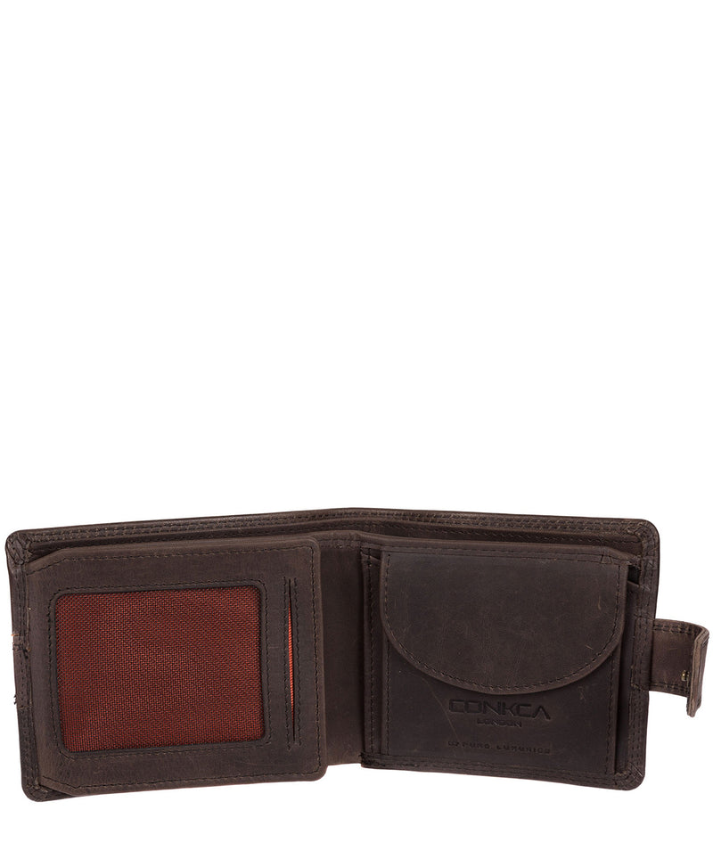 'Jude' Antique Black Handcrafted Leather Wallet image 5