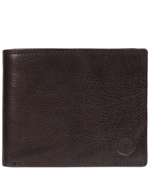 'Jared' Antique Black Leather Wallet image 1