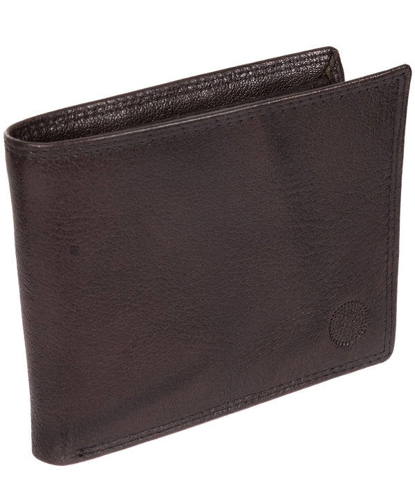 'Jared' Antique Black Leather Wallet image 3