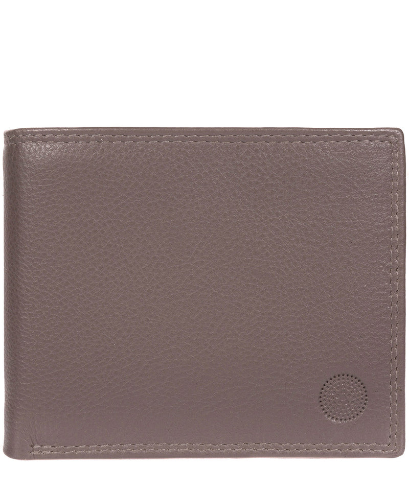 'Jared' Taupe Grey Leather Wallet image 1
