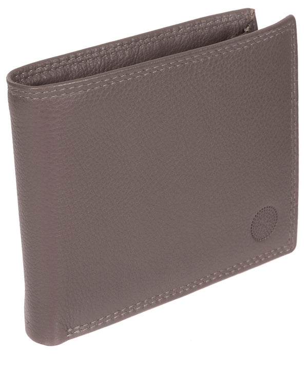 'Jared' Taupe Grey Leather Wallet image 3
