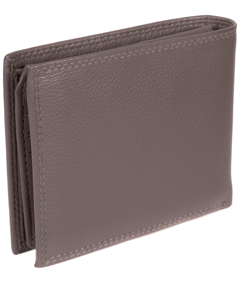 'Jared' Taupe Grey Leather Wallet image 6