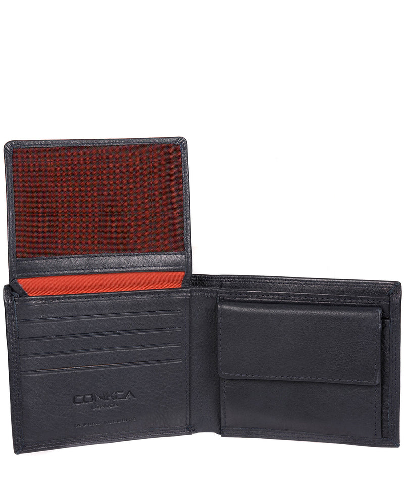 'Jared' Navy Leather Wallet image 5