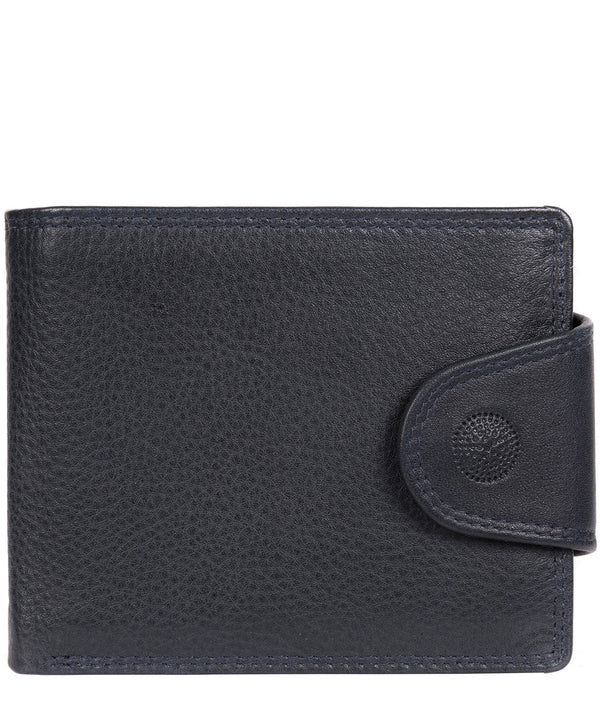 'Garrat' Navy Leather Wallet image 1