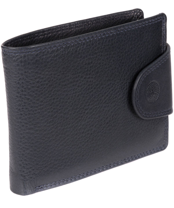 'Garrat' Navy Leather Wallet image 3