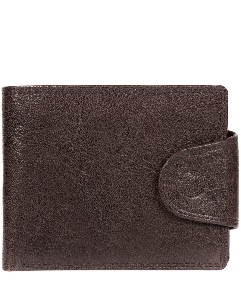 'Garrat' Anthracite Brown Handcrafted Leather Wallet image 1
