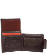 'Garrat' Anthracite Brown Handcrafted Leather Wallet image 6