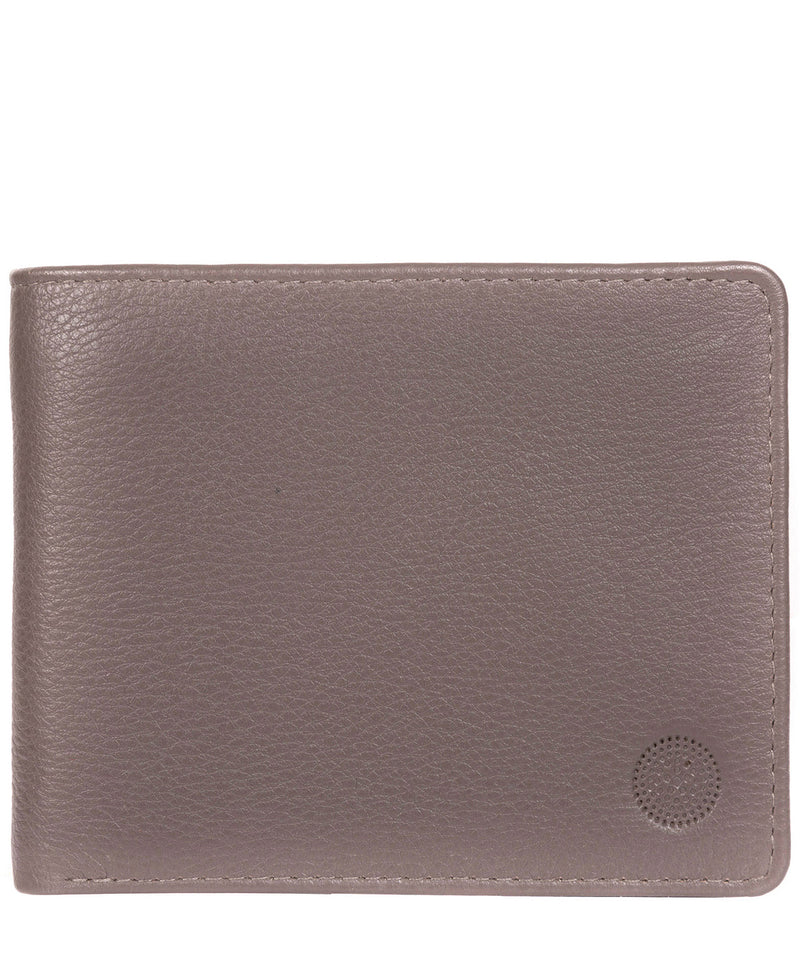 'Carter' Taupe Grey Leather 12-Card Wallet image 1