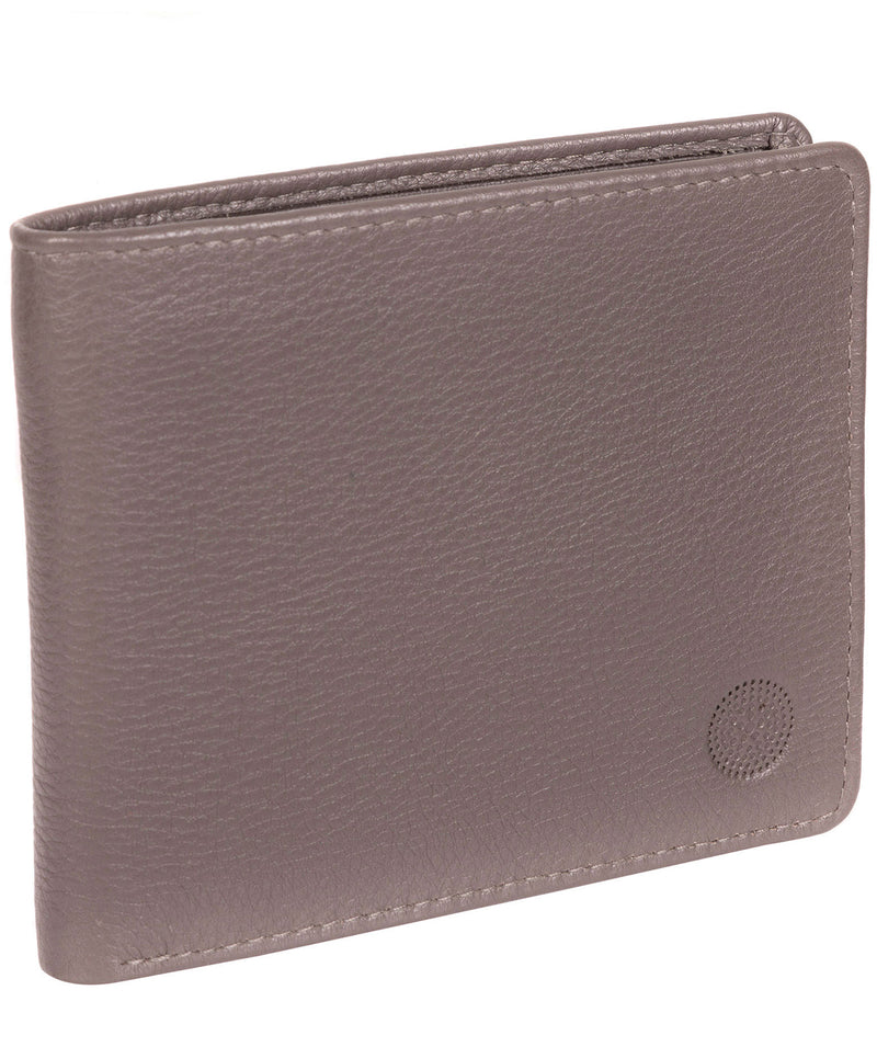 'Carter' Taupe Grey Leather 12-Card Wallet image 3