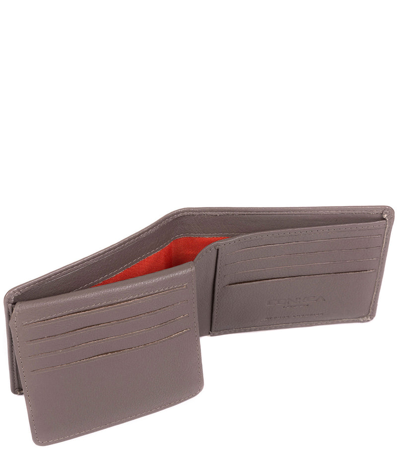 'Carter' Taupe Grey Leather 12-Card Wallet image 4