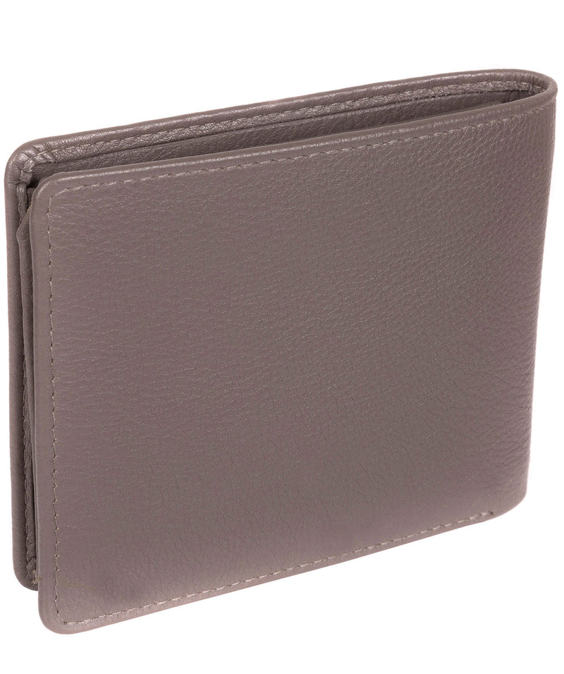 'Carter' Taupe Grey Leather 12-Card Wallet image 5