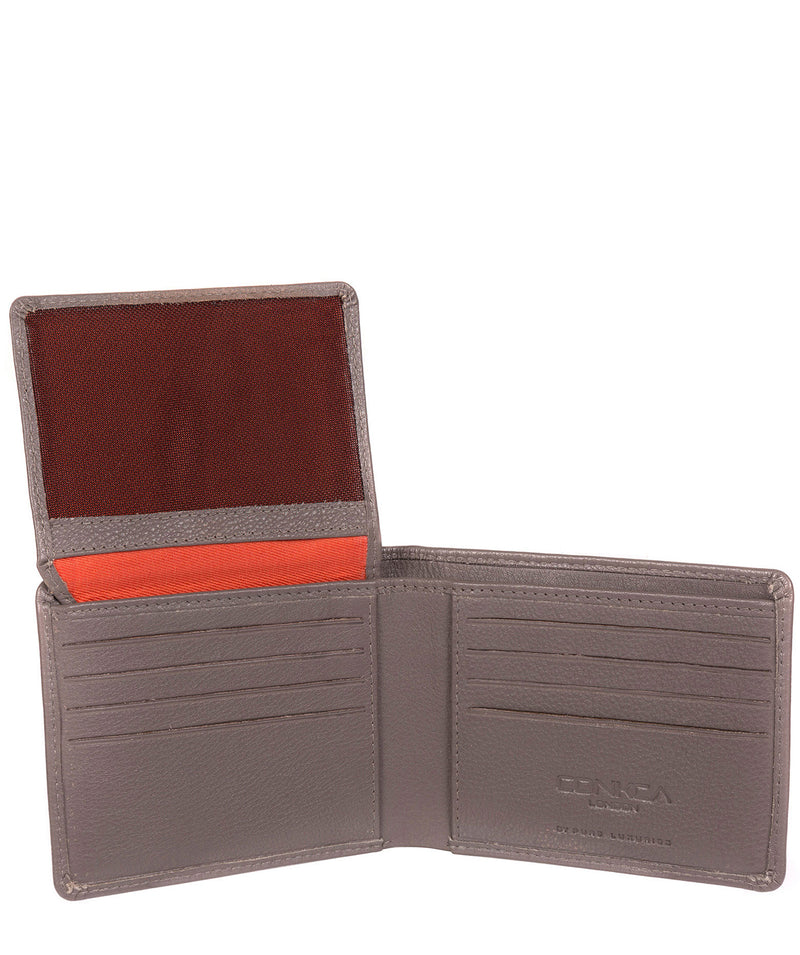 'Carter' Taupe Grey Leather 12-Card Wallet image 6