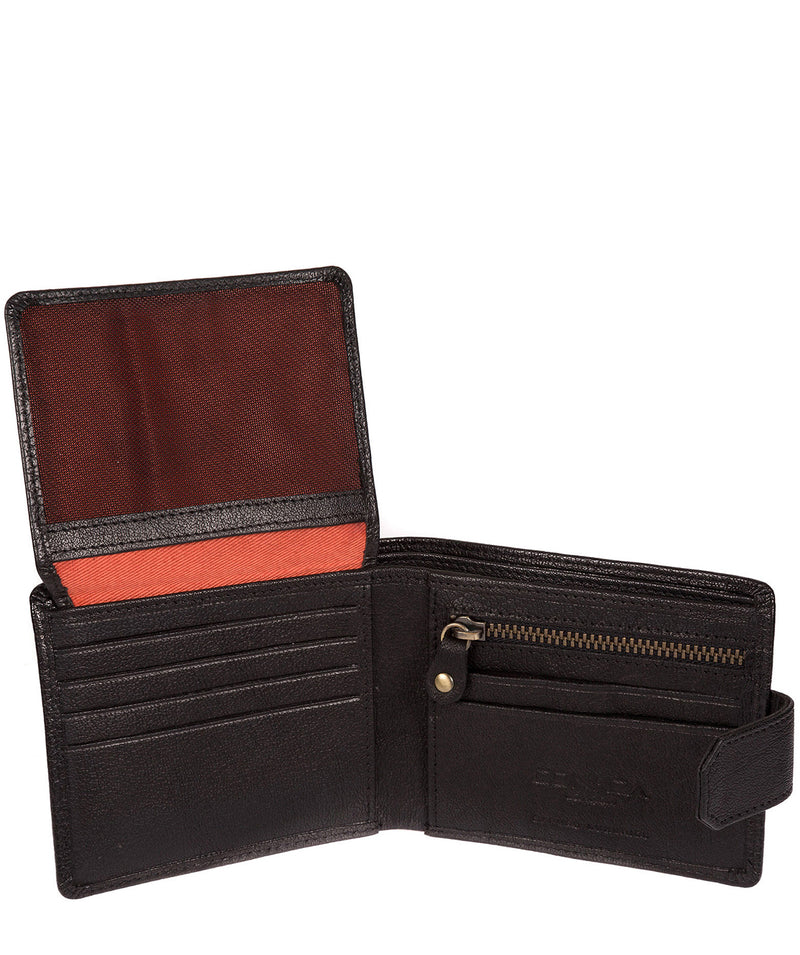 'Beckett' Black Fine Leather Wallet image 5