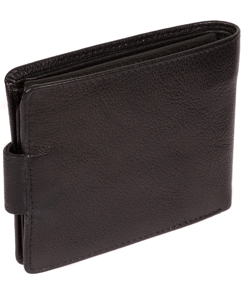 'Beckett' Black Fine Leather Wallet image 6