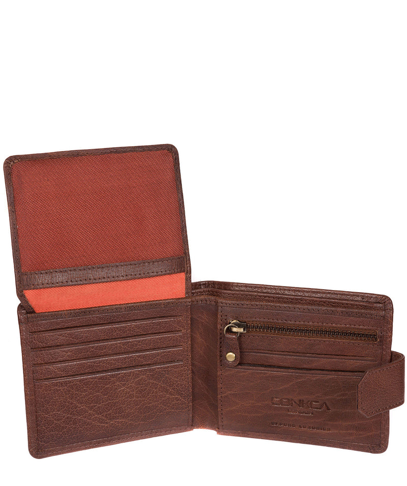 'Beckett' Tan Fine Leather Wallet image 5