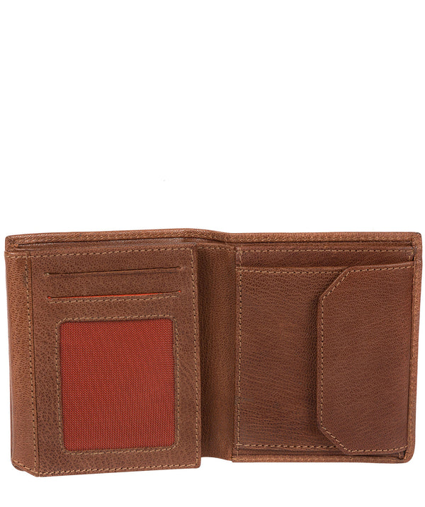 'Portus' Conker Brown Tri-Fold Leather Wallet image 3