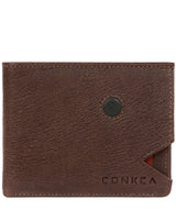 'Max' Dark Brown Bi-Fold Leather Wallet image 1