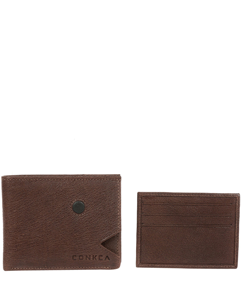 'Max' Dark Brown Bi-Fold Leather Wallet image 4