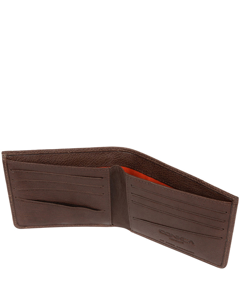 'Max' Dark Brown Bi-Fold Leather Wallet image 5