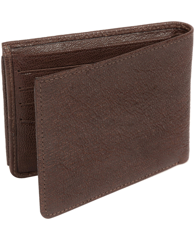 'Max' Dark Brown Bi-Fold Leather Wallet image 6