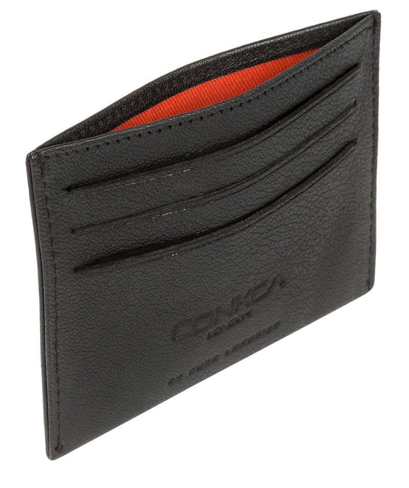 'Otis' Black Leather Card Holder image 4