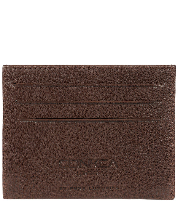 'Otis' Dark Brown Bi-Fold Leather Wallet image 1