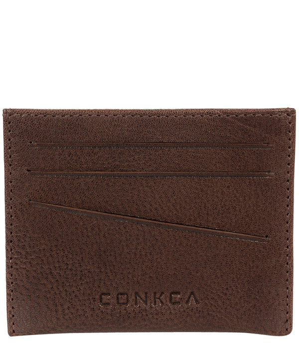 'Otis' Dark Brown Bi-Fold Leather Wallet image 3