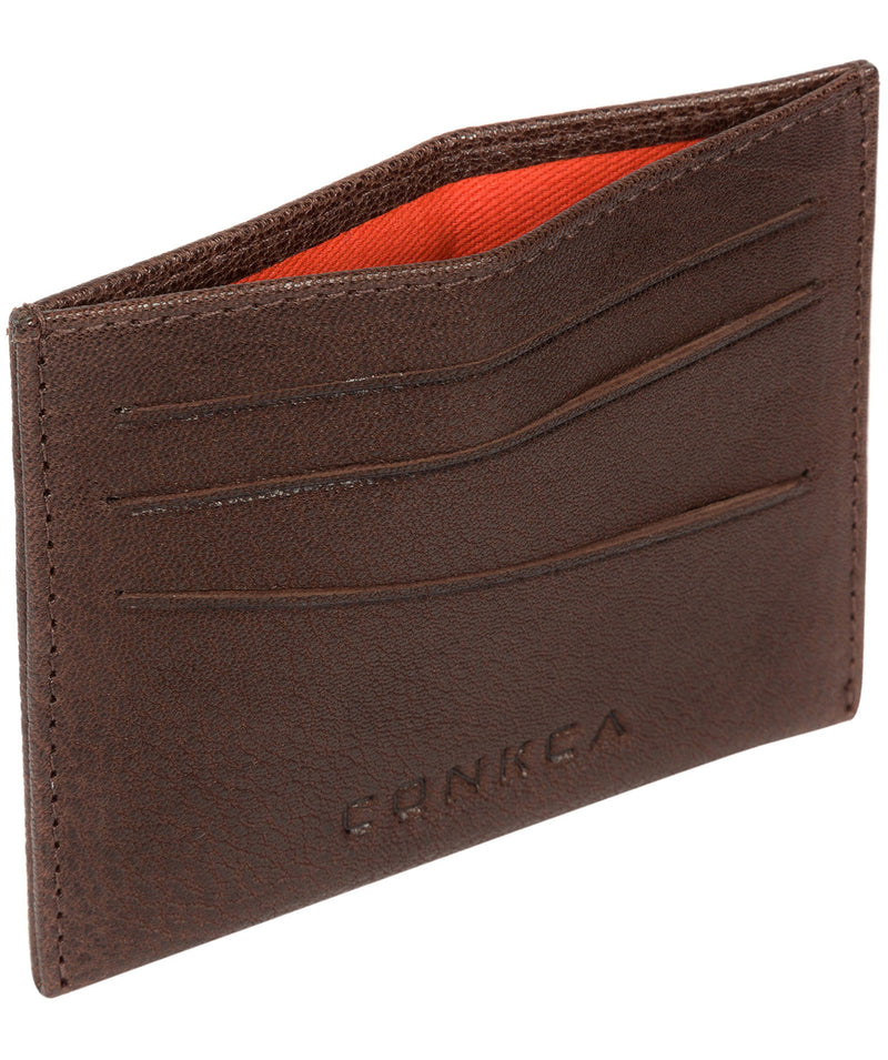 'Otis' Dark Brown Bi-Fold Leather Wallet image 4