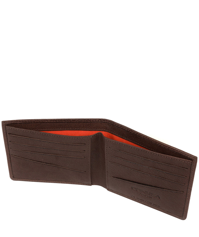 'Alston' Dark Brown Bi-Fold Leather Wallet image 4