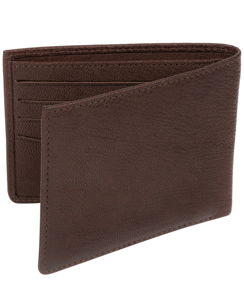 'Alston' Dark Brown Bi-Fold Leather Wallet image 5