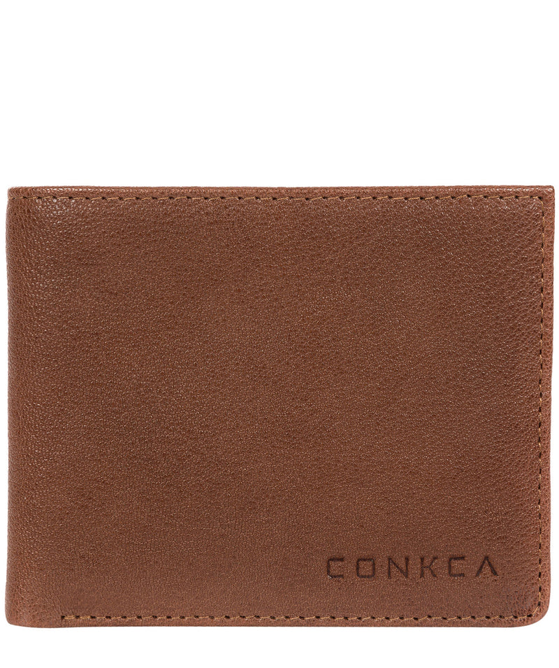 'Alston' Conker Brown Bi-Fold Leather Wallet image 1