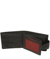 'Bret' Black Bi-Fold Leather Wallet image 3