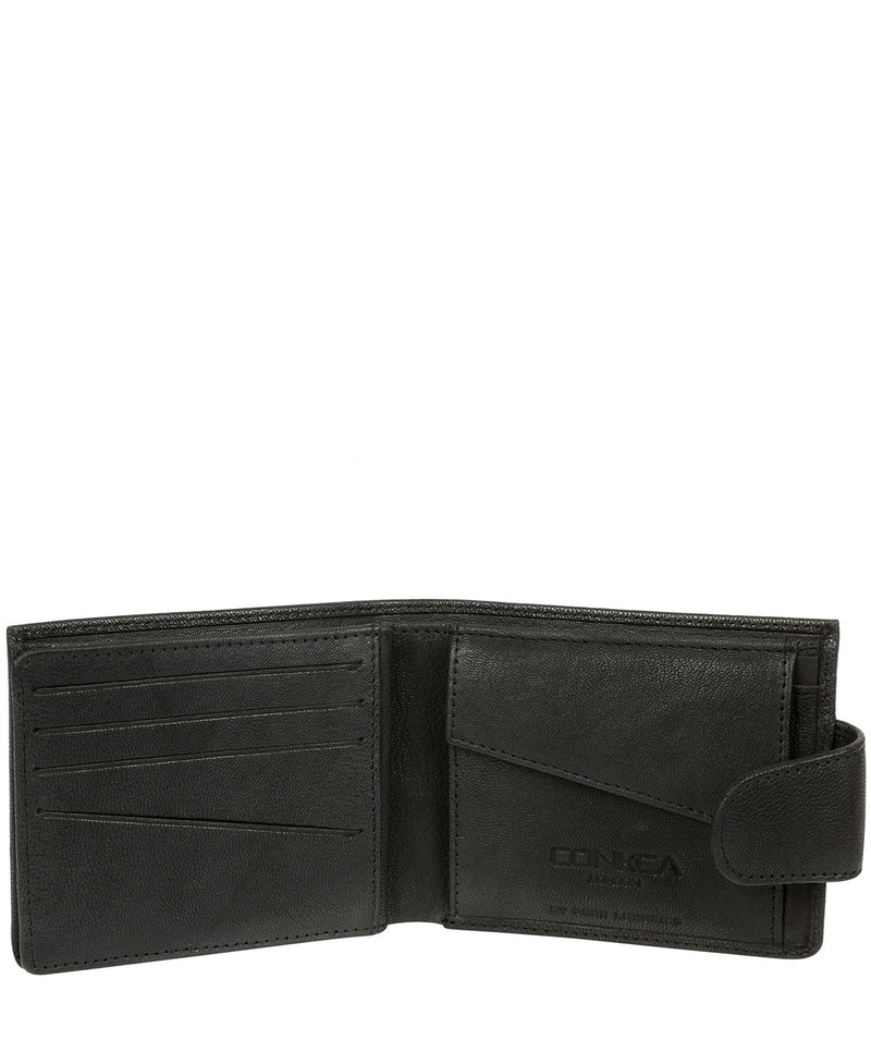 'Bret' Black Bi-Fold Leather Wallet image 4