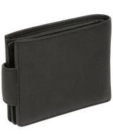 'Bret' Black Bi-Fold Leather Wallet image 5
