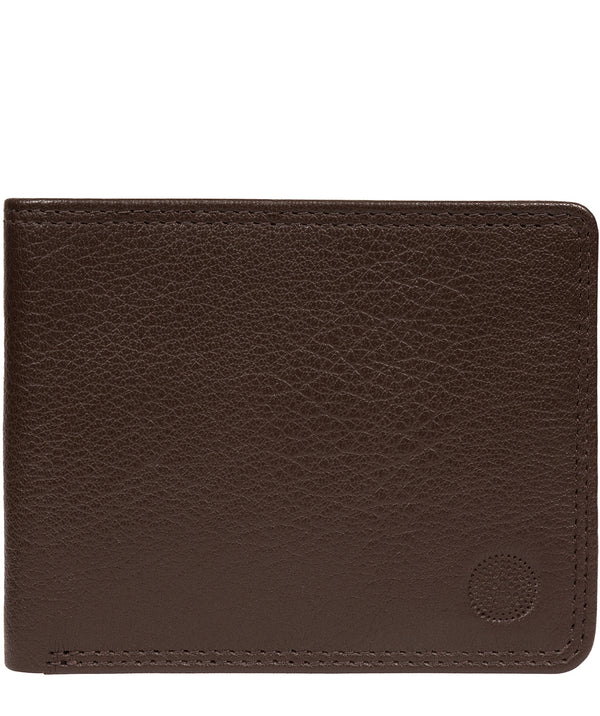 'Campbell' Dark Brown Leather RFID Wallet image 1
