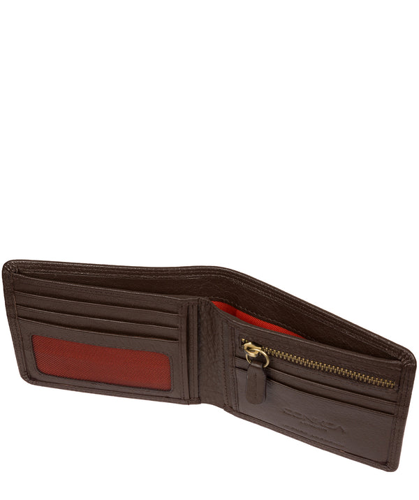 'Campbell' Dark Brown Leather RFID Wallet image 3