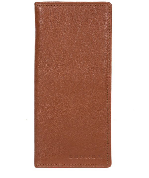 'Osbourne' Chestnut & Dark Brown Leather Breast Pocket Wallet image 1
