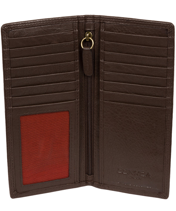 'Osbourne' Dark Brown Leather Breast Pocket Wallet Pure Luxuries London