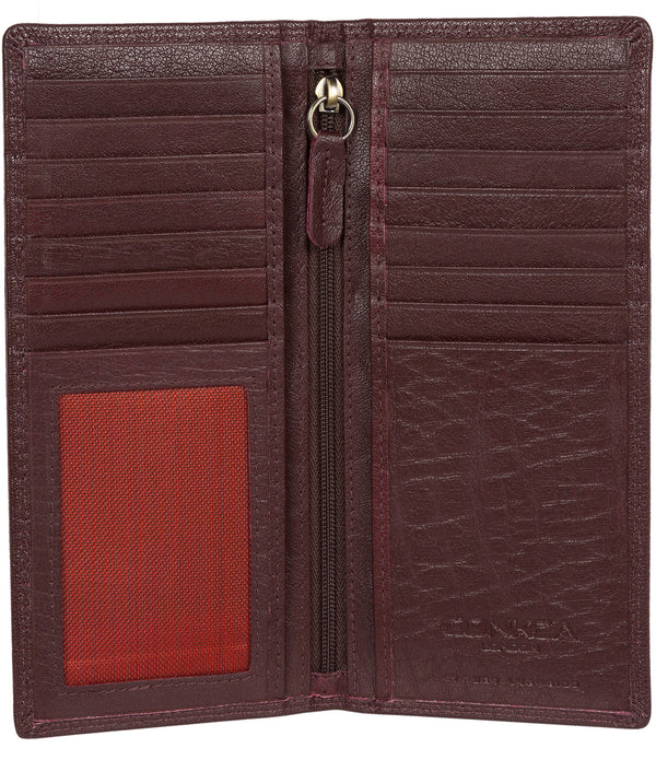 'Osbourne' Oxblood Leather Breast Pocket Wallet image 3