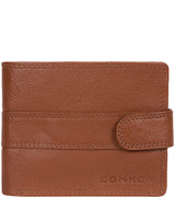 'Roth' Chestnut & Dark Brown Bi-Fold Leather Wallet image 1