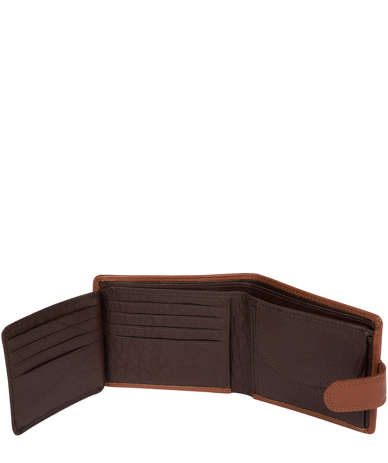 'Roth' Chestnut & Dark Brown Bi-Fold Leather Wallet image 4