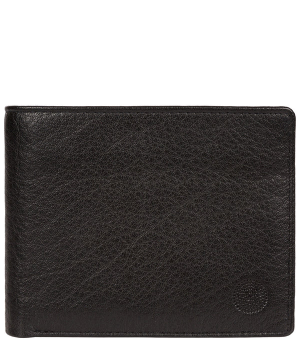 'Cain' Black Bi-Fold Leather Wallet image 1