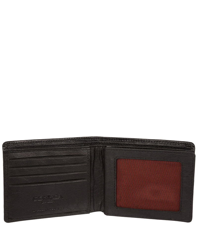 'Cain' Black Bi-Fold Leather Wallet image 3